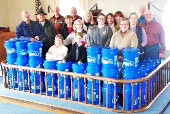 Jackson Grove UMC's bucket brigade. (photo submitted)