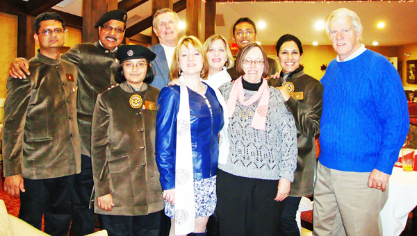Pictured are the team members from India along with some of their host families. From left are Mrugesh Trivedi, Neeraj Sogani, Krishna Mehta, Ron Wingo, Petra Harrelson, Sherril Wingo, Vinay Kothari, Diane Zimmerman, Chhavi Rajawat and Paul Zimmerman. (photo submitted by Bill Hilhouse)