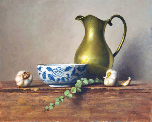 Bowl & Brass Pitcher, 16 x 20, oil on canvas. (photo submitted)