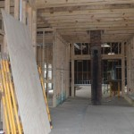 Progress is underway on the interior of the depot.