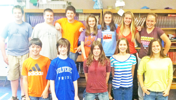 Polk County Middle School students who participated in the Duke TIP program this year. (photo by Brian Taylor)
