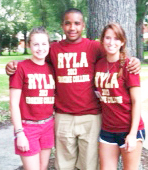 Rotary Youth Leadership Academy ( RYLA ) was held at Erskine College in June. Drew Copeland from Chapman High School, Julia Skellie and Morgan McLellan both from Landrum High School attended this week long camp. (photo submitted by Paula Brooks)