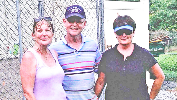 Heidi Mendez, DeHaven Batchelor and Deborah Batchelor lended their hardwork and donations to making the HOPE for Paws kennel at Steps to HOPE a reality. (photo submitted by Debra Backus)