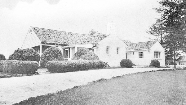 An old postcard showing Little Orchard, the Tryon home of Mrs. and Mrs. Maurice (Lefty) Flynn in the 1920s and 1930s. (photo submitted)