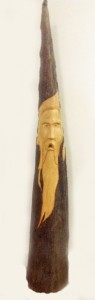 A wood spirit carved from a Cypress knee by Bill Davin. (photo submitted)