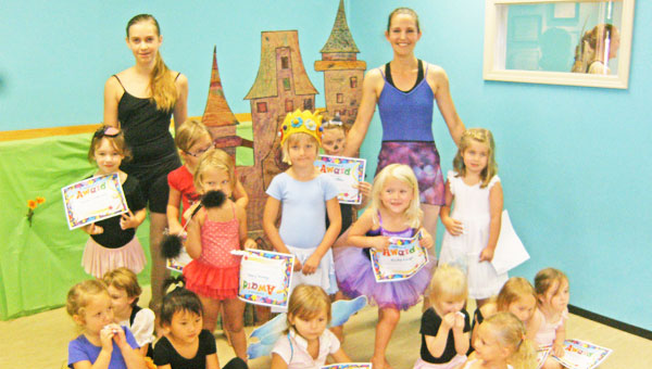 Preschool campers with instructor Sonya Monts and assistant Miss Willow Arkell. (photo submitted)