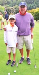 Overall champions Evan Jones, playing with his grandfather Hub Arledge