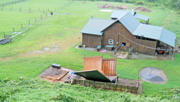 A shed in Hunting Country was turned upside down when a storm thought to be a microburst hit the area on Friday, Aug. 22.
