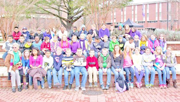 Tryon Elementary School fifth-graders pose for a picture on the campus of Western Carolina University. (photo submitted by Denise Cochran)