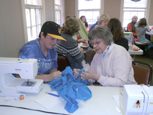 Every January through March, 4-H offers area youth a chance to learn all about sewing. Each student has an assigned adult sewing teacher who offers individual attention and expertise. Usually the class has at least 12 students, so we are looking for a few people who sew to volunteer two days a week, January - March.  If you think you could be of help, please call the Polk County Extension Office at 828-894-8218 and sign up for weeks of fun and fulfillment. (photo by Helen Clark)