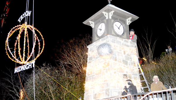 """Tryon's annual New Year's Eve celebration, now dubbed """"Tryon Midnight,"""" brought hundreds of community members out to celebrate the beginning of 2014. The event was sponsored by the Polk County Community Foundation and put together by the Tryon Downtown Development Association. (photo by Samantha Hurst)"""