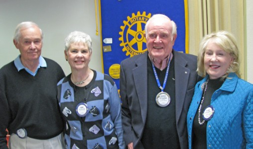 Left to right are Joe Boals, coordinator of the Gift of Life program, Carol Browning, Foundation treasurer, Charles McKeller, and Joann McMillan, vice chair. (photo submitted by Art Brown)