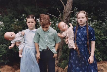 "Mennonite Children,"" photograph by Sheron Rupp"