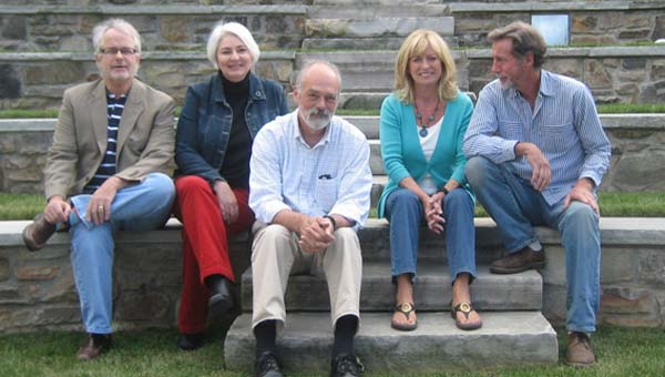 Tryon writers Lee Stockdale, Susan McNabb, David Riddle, Monica Jones and Lavin Cuddihee