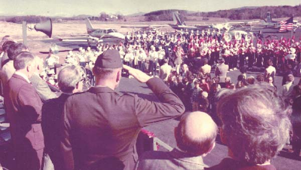 The opening ceremonies of the airport on Nov. 21, 1975.